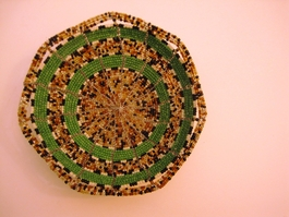 Handwoven Kenyan Beaded Bowl #009