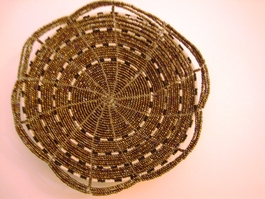 Handwoven Kenyan Beaded Bowl #006