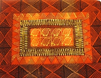 Guinea Oranges Potato Print Placemats