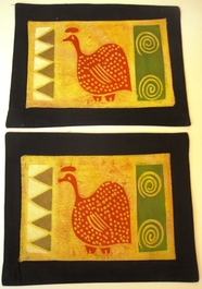 Guinea Batik Placemats - Set of 2