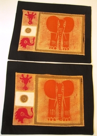 Ele Triple Batik Placemats - Set of 2