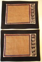 Natural Raffia Batik A Placemats - Set of 2