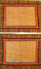 Natural Raffia Batik F Placemats - Set of 2