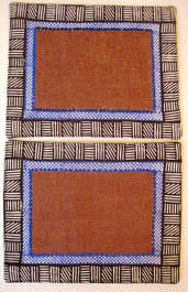 Natural Raffia Batik D Placemats - Set of 2