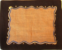 Natural Raffia Batik E Placemats - Set of 2