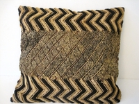 African Kuba Shoowa Cloth Pillow Cover #001