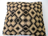 African Kuba Shoowa Cloth Pillow Cover #009
