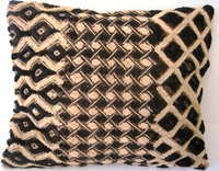 African Kuba Shoowa Cloth Pillow Cover #005