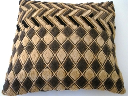 African Kuba Shoowa Cloth Pillow Cover #007