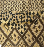 African Kuba Shoowa Textile Strip #008