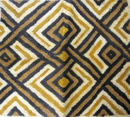 African Kuba Shoowa Textile Strip #016