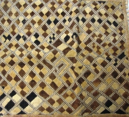 African Kuba Shoowa Textile Strip #007