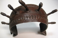 African Art Tribal Art Bronze Currency - Nigeria #005