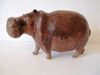 HandCarved Unique Hippo Carving #004