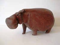 HandCarved Unique Hippo Carving #005