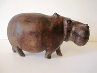 HandCarved Unique Hippo Carving #003