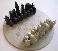 "Kenya Soapstone Chess Set - Round 12""  #8"