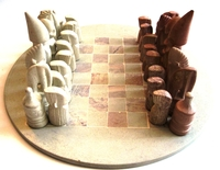 "Kenya Soapstone Chess Set - Round 12""  #6"