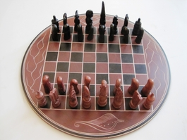 "Kenya Soapstone Chess Set - Round 12""  #4"