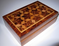 Handcrafted Rectangular Moroccan Thuya Box Design #1