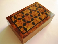 Handcrafted Rectangular Moroccan Thuya Box Design #3