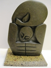 Mother and Child Abstract Shona Stone Carving