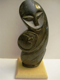 Shona Mother and Child Stone Carving