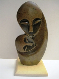 Mother and Child Shona Stone Carving