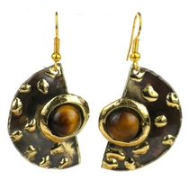 Make Your Mark Tiger Eye Earrings
