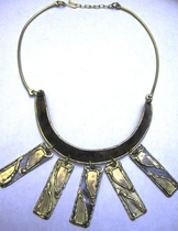 Handcrafted Brass Necklace #003