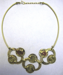 Handcrafted Brass Necklace #004