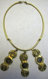 Handcrafted Brass Necklace #002
