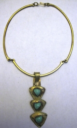 Handcrafted Brass Necklace #006