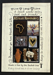 Handmade African Greeting Card - African Reminders