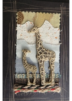 Handmade African Greeting Card - Big Giraffe