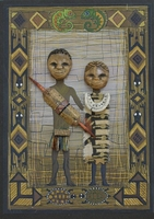 Handmade African Greeting Card - Man and Wife