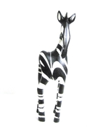 Handcrafted Zebra Carving from Zimbabwe - Small