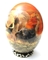 Decoupage Big Five Ostrich Egg