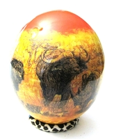 Decoupage African Animals Drawing Ostrich Egg