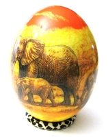 Decoupage Animals from Africa Drawing Ostrich Egg