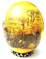 Decoupage Animals Drawing Ostrich Egg