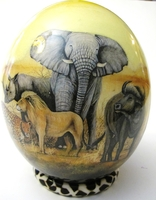 Decoupage Big 5 Ostrich Egg