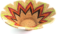 Handwoven Lutindzi Basket from Swaziland - Candy - XL