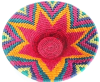 Handwoven Lutindzi Basket from Swaziland - Candy - L