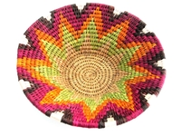 Handwoven Lutindzi Basket from Swaziland - Candy - M