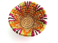 Handwoven Lutindzi Basket from Swaziland - Candy - S