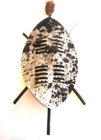 African Zulu Nguni Hide Shield - Design 002