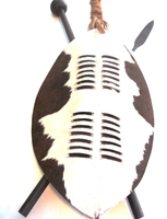 African Zulu Nguni Hide Shield - Design 004