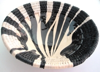 Ceramic V-Bowl - Zebra