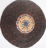 Ceramic and grasswoven Placemat - Bushman